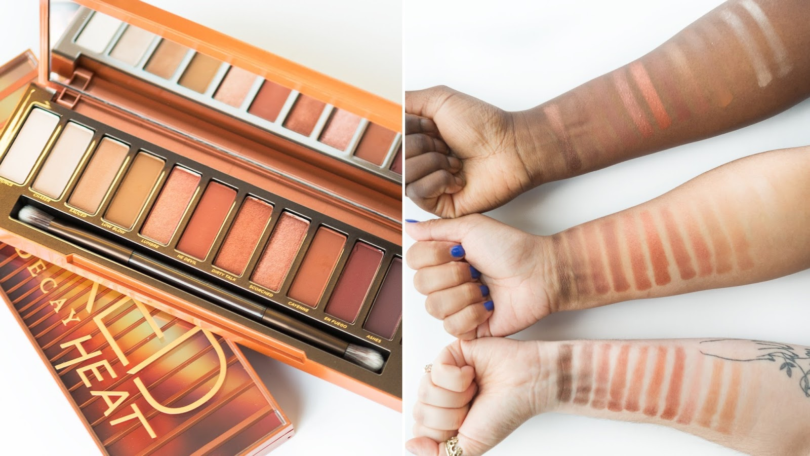 swatch palette Heat Urban Decay