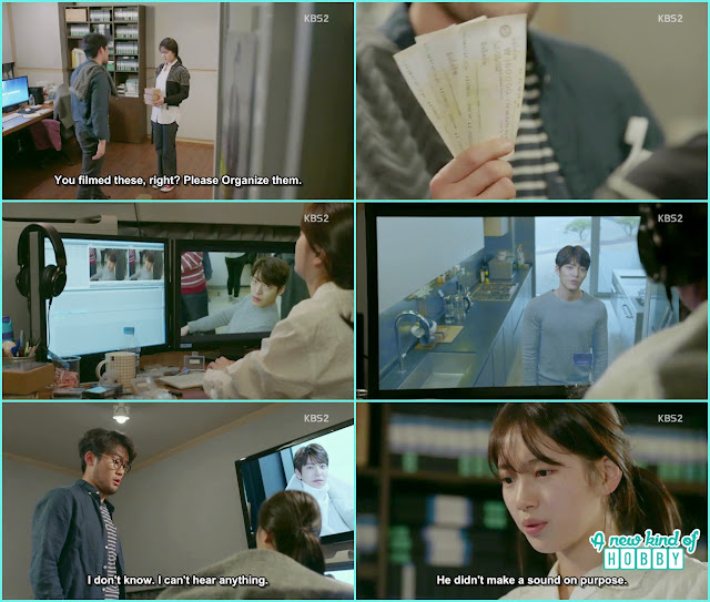 Noh Eul arranging and editing Joon Young video files - Uncontrollably Fond - Episode 15 Review
