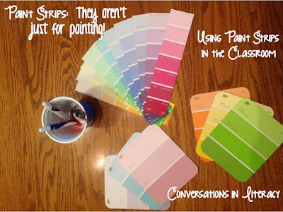 how I use paint strips in the classroom for sound boxes