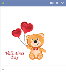 Valentine's Day Teddy Emoji