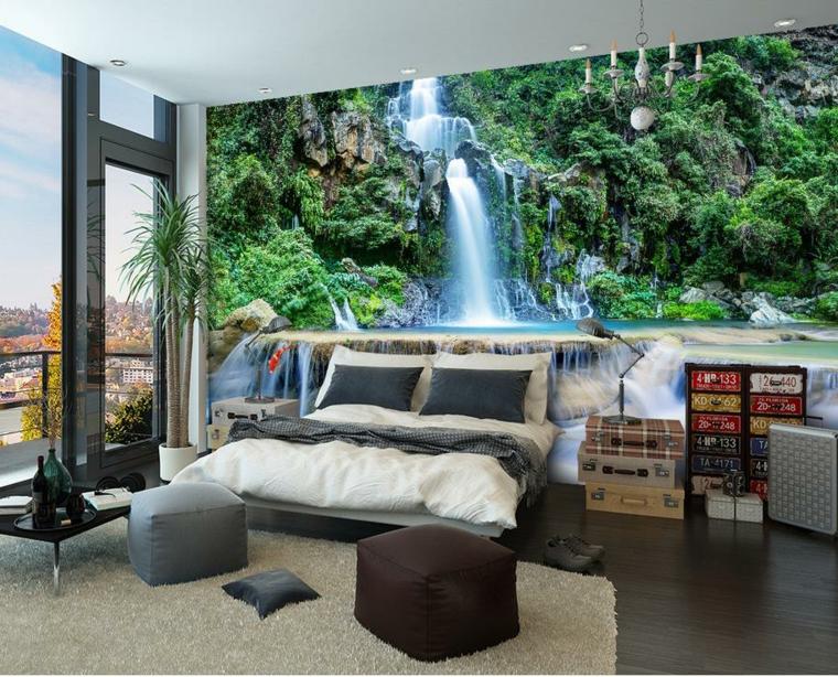 Papel de parede 22 ideias incr veis decora o e ideias for Papeles murales con diseno de paisajes
