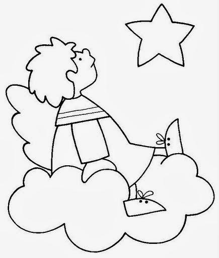 Educar X: Moldes E Desenhos De Anjos Para Colorir Pintar