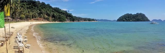 El Nido, Filipinas. Playas alrededor de El Nido. Las Cabañas