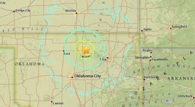 gambar / foto video pusat gempa Oklahoma