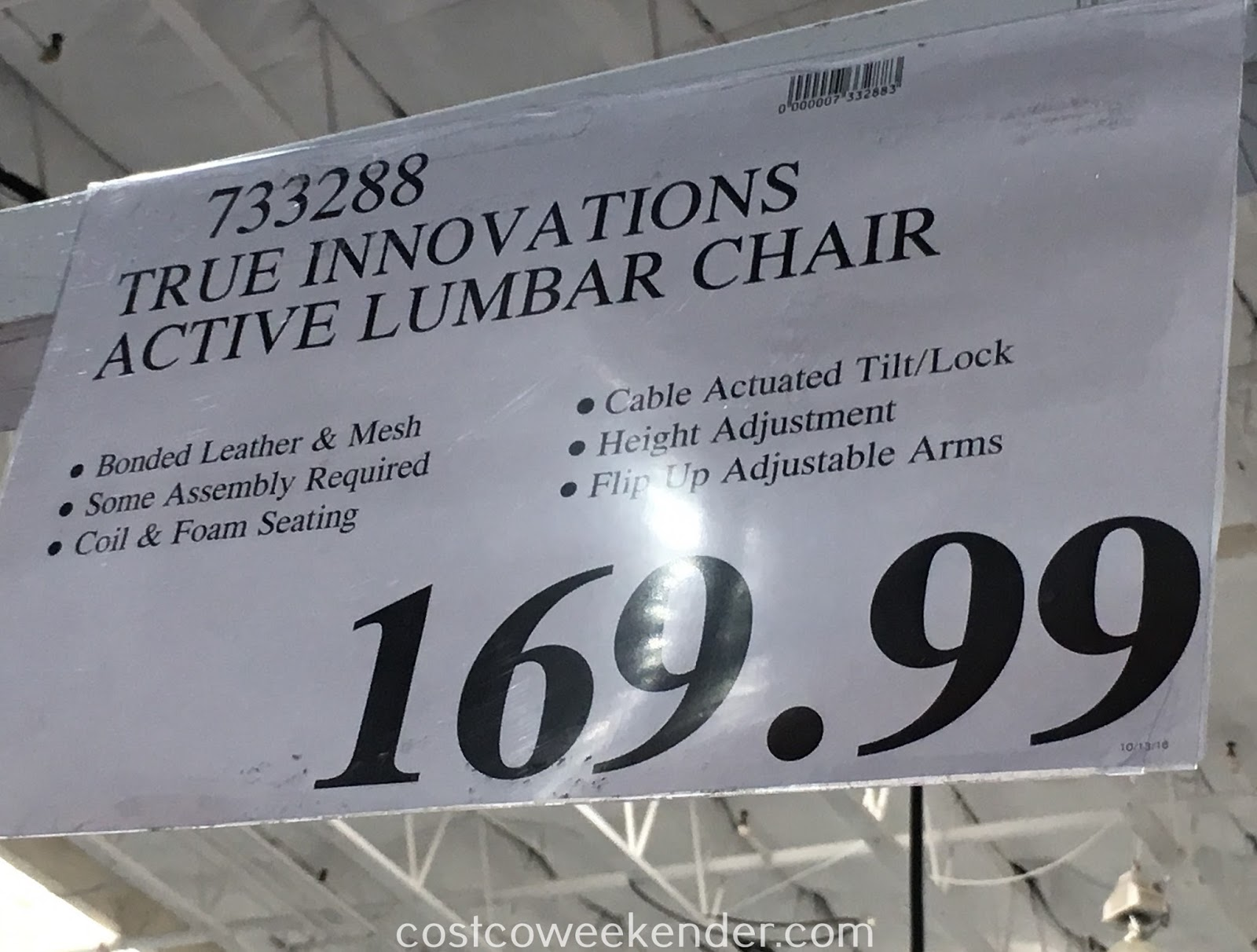 Deal for the True Innovations True Wellness Active Lumbar Chair at Costco