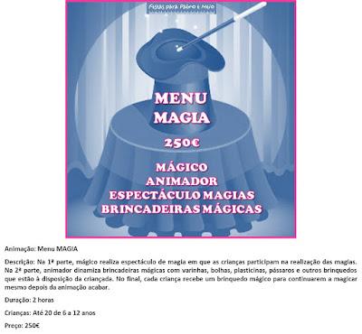 Animação Menu Magia
