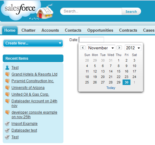 Infallible Techie: Date picker in Visualforce page