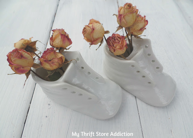 vintage baby shoe planters