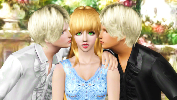 My Sims 3 Blog: Love Triangle Poses by Star
