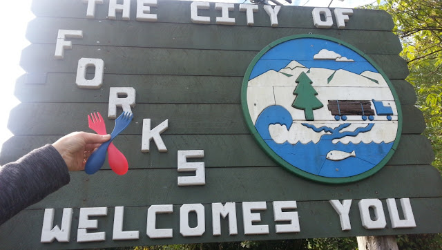 Passing through Forks, Washington...