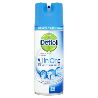 Kill bacteria and flu virus (H1N1) , Dettol All in One 3 pack spray @ 400ml £5.25