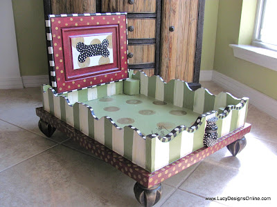 whimsical dog bed, designer dog bed