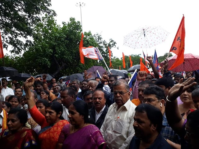Protest Demo against atrocities on Ayyappa devotees in Sabarimala by Kerala Government