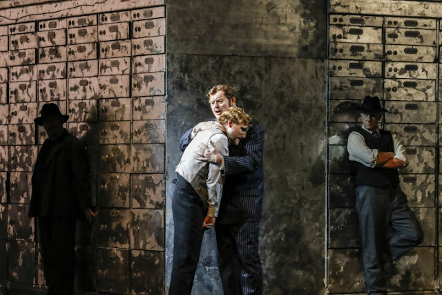 Martin Wölfel, Mark Le Brocq - André Tchaikowsky: The Merchant of Venice - Welsh National Opera (Photo Johan Persson)