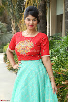 Lucky Shree Looks super cute in Bright Red Green Anarkali Dress ~  Exclusive 030.JPG