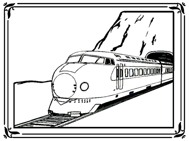 Modern Train Coloring Pages
