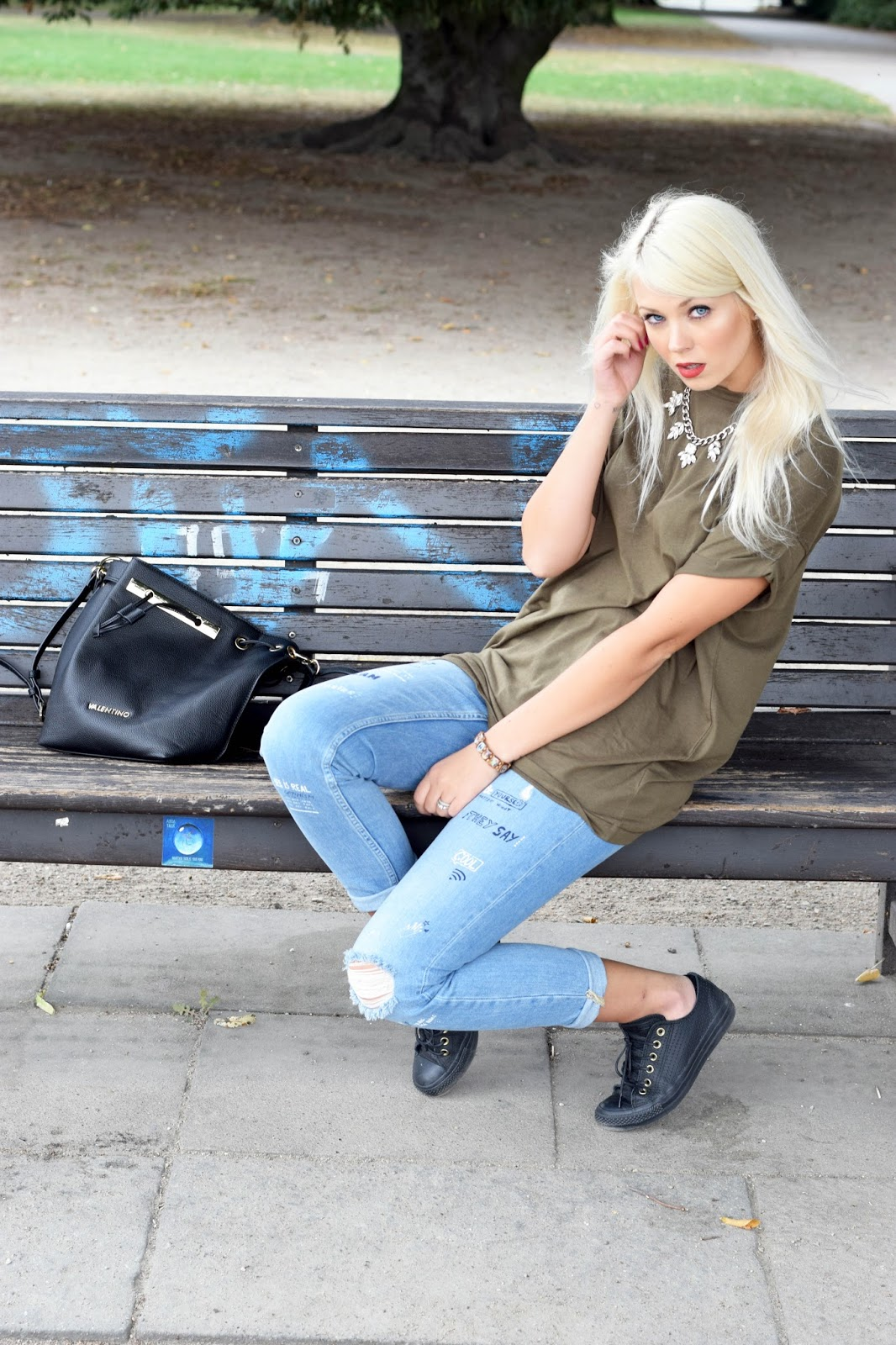 street style, streetstyle, hamburg, bershka, german blondy, converse, bag, ootd
