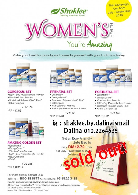 Promosi Oktober : Set Women Health