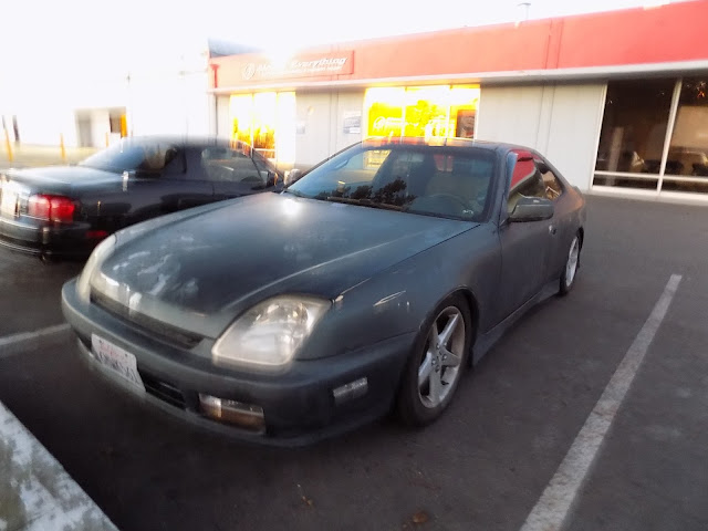 Oxidized Honda Prelude before paint at Almost Everything Auto Body.