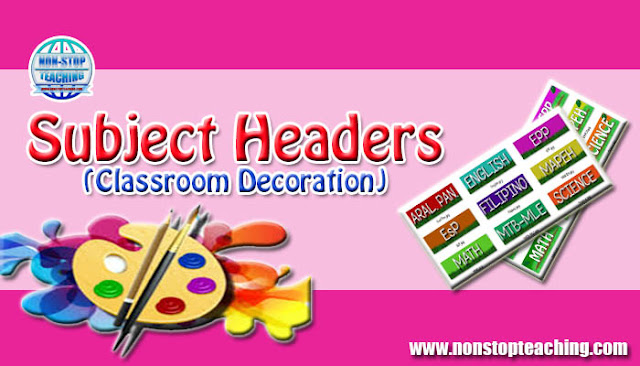 Subject Headers (Classroom Decoration)