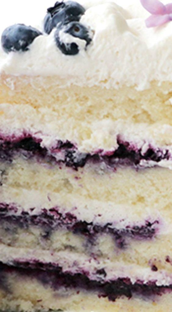 Blueberry Cream Cake Recipe