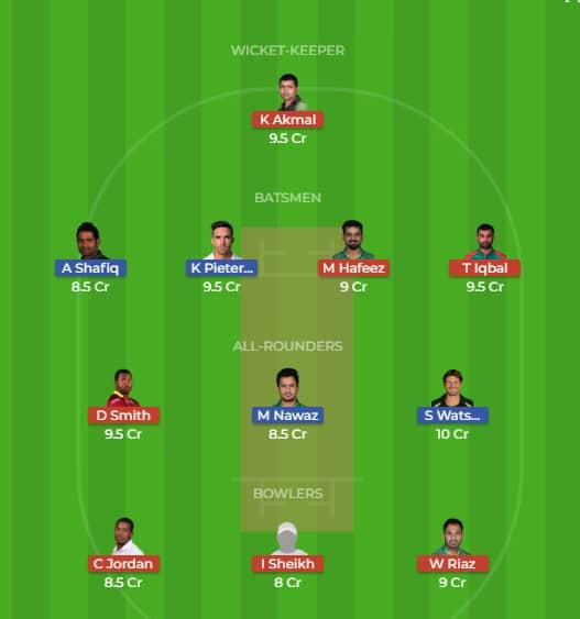 Quetta Gladiators vs Peshawar Zalmi Dream 11 Predictions