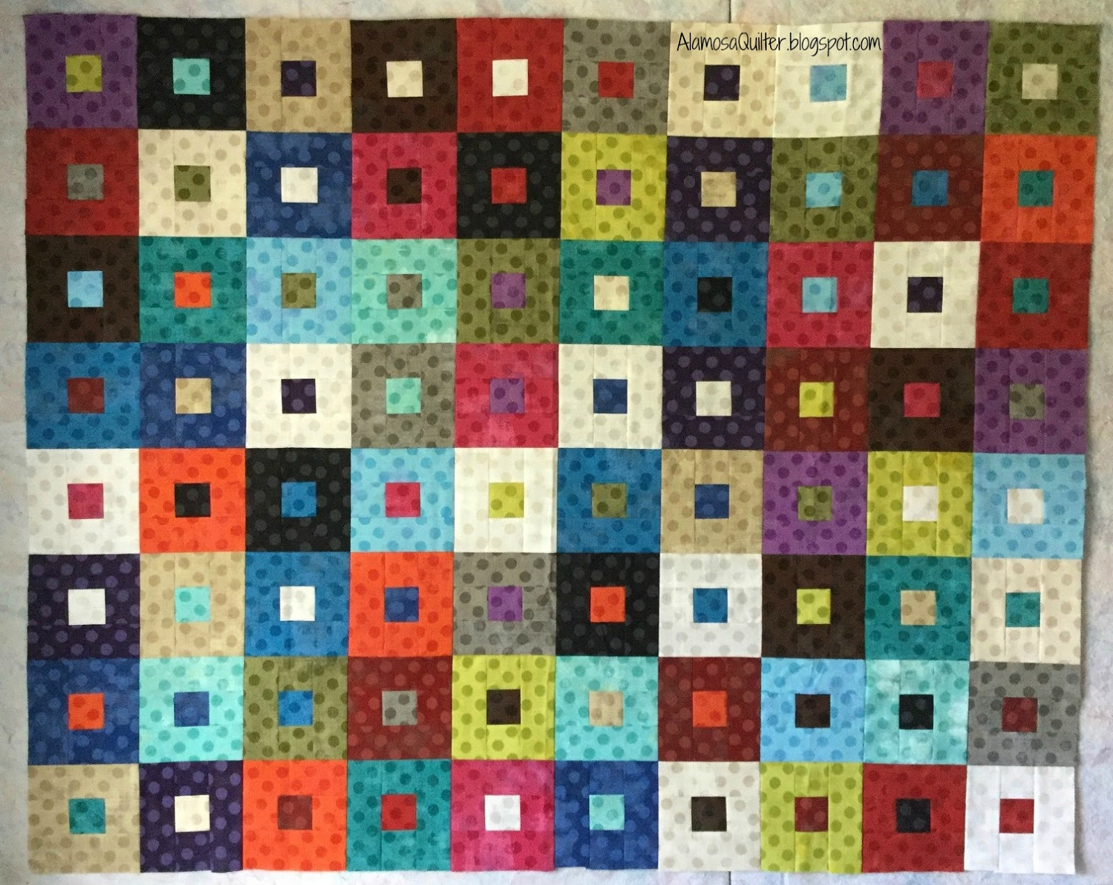 Alamosa Quilter: Jiffy Jelly Roll Grunge Dots Quilt Top : jelly roll quilts - Adamdwight.com