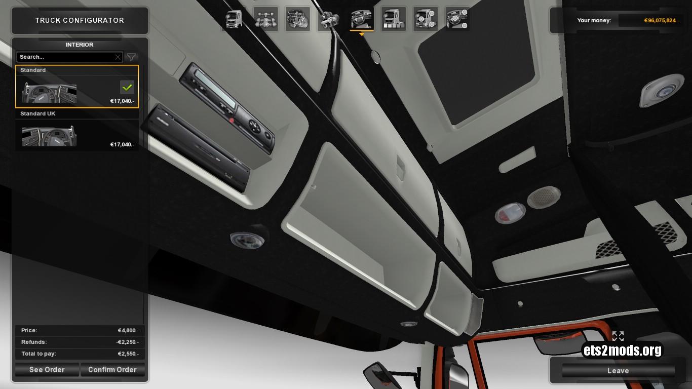 Dark Gray Interior for Iveco Hi Way