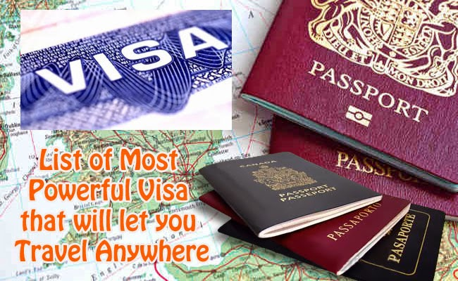 List of Most Powerful Visa that will let you Travel Anywhere