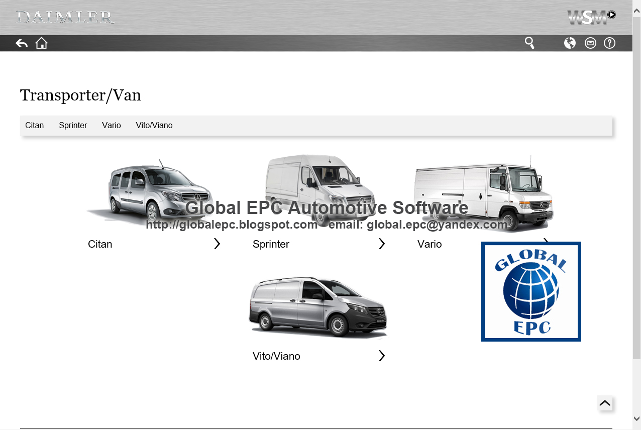 GLOBAL EPC AUTOMOTIVE SOFTWARE