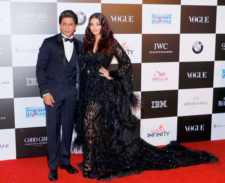 Shah Rukh Khan and Aishwarya Rai Attend The 'Vogue Women of the Year Awards 2017
