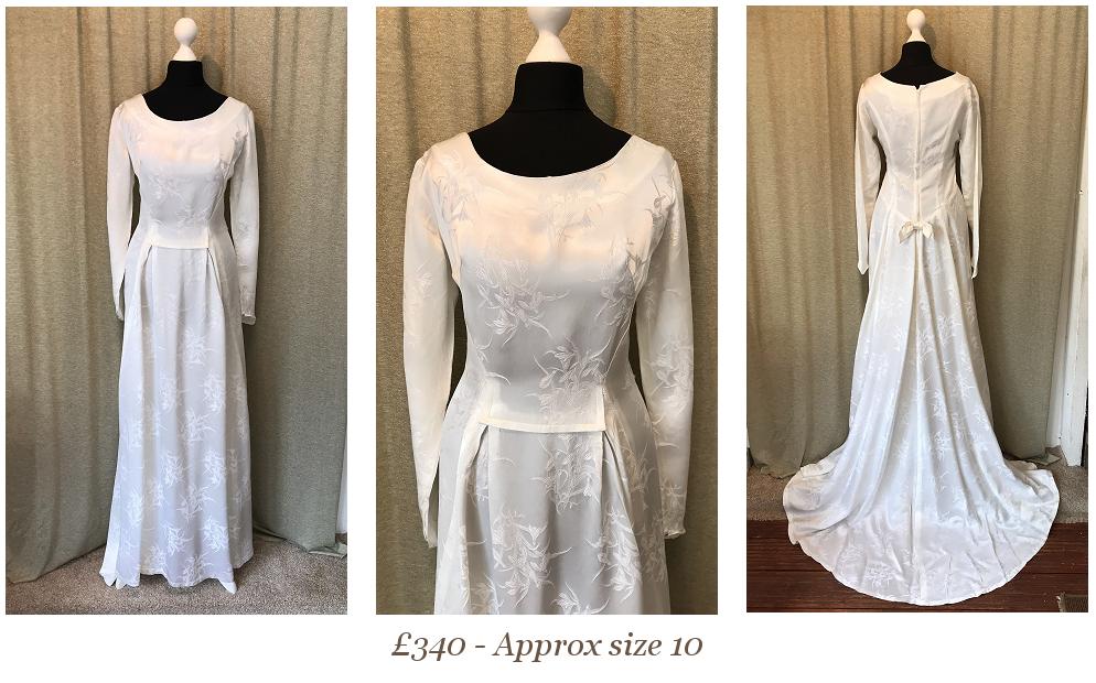 1950s 1960s Long Sleeve Vintage Wedding Dress