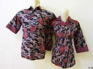 Model Baju Batik Guru Modern