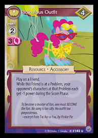 My Little Pony Ridiculous Outfit Premiere CCG Card