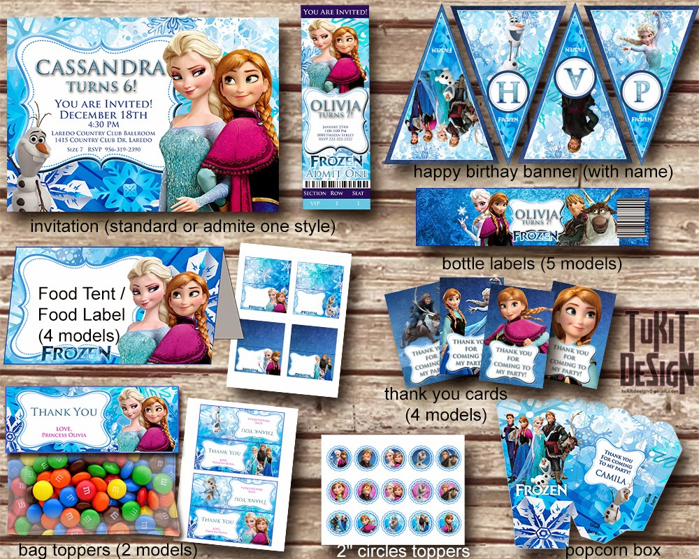 Tu Kit Imprimible Kits Para Tus Fiestas Disney Frozen