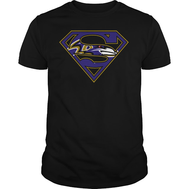 Baltimore Ravens Superman Logo Shirt