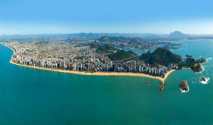 Vila Velha e Vitória vistos de cima é muito incrível!