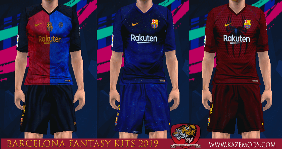 dcceed195 Barcelona Fantasy Kits 2019 For PES PSP (PPSSPP) - Kits by Manolucas