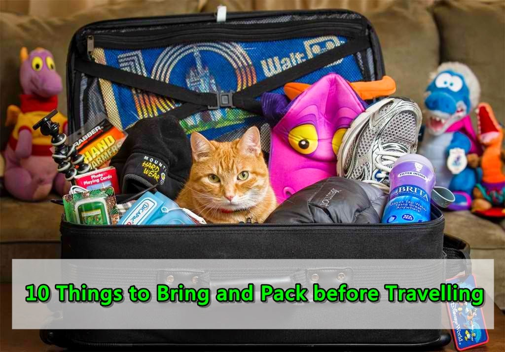 10 Things to Bring and Pack before Travelling
