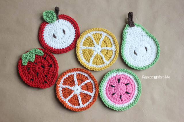 Repeat Crafter Me | FREE Fruit Coaster Pattern