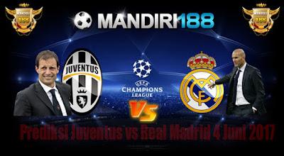 AGEN BOLA - Prediksi Juventus vs Real Madrid 4 Juni 2017