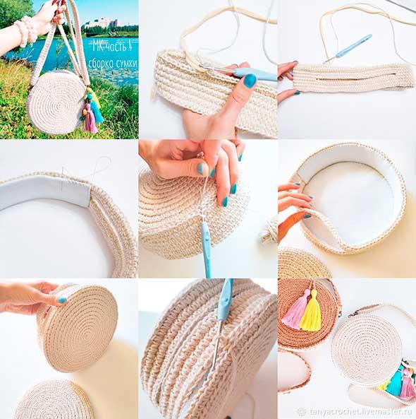 bolsos redondos, crochet, bolso circular ganchillo, tutoriales crochet