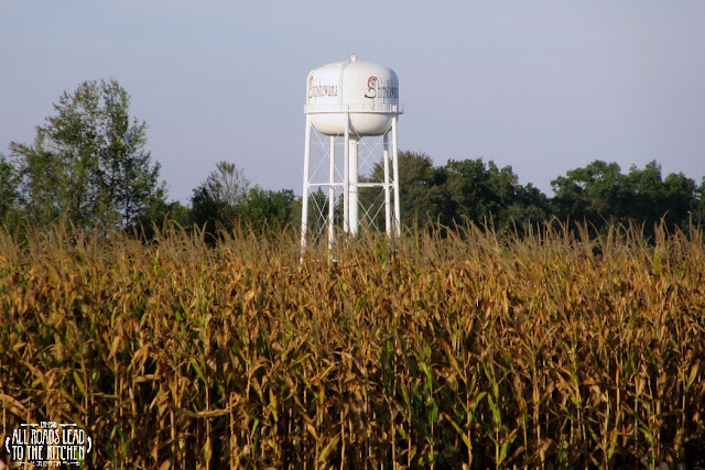 Shipshewana corn and water silo