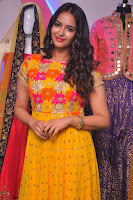 Pujitha in Yellow Ethnic Salawr Suit Stunning Beauty Darshakudu Movie actress Pujitha at a saree store Launch ~ Celebrities Galleries 045.jpg
