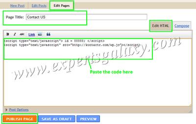 Blogger Post HTML Option