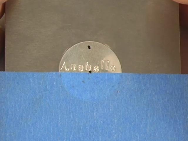 How to Stamp on Metal to Make a Necklace - Step 6: Stamping