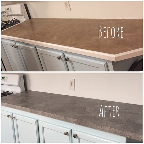 countertops before and after