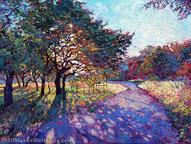Juicy and Innovative Landscapes in the Paintings of Erin Hanson
