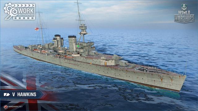 British cruiser Hawkins, tier V