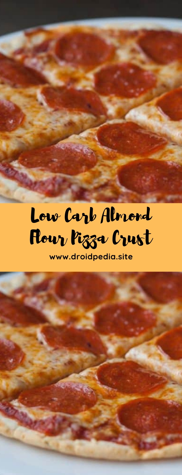 Low Carb Almond Flour Pizza Crust #lowcarb #pizza